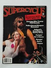 Supercycle Magazine February 1981 - Steve McQueen - Antique Meet - Bike Tramp