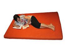 Gästebett Matratze 140 x 200 x 10 cm orange Bezug abnehmbar waschbar