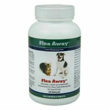 Flea Away All Natural Mosquito Repellent for Dog & Cat 50Chewable Tablets Open