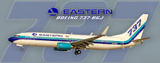 Eastern Airlines 2015 Logo Boeing 737-86J Handmade Photo Magnet (PMT1665)