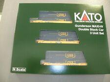 KATO 106-6175 GUNDERSON MAXI IV DOUBLE STACK CSX 3 CAR SET - MAKE OFFERS!!!!