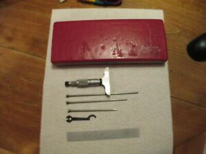 "Starrett 440 Depth Micrometer Set, 0""-3"", Cased, Depth Gauge, Good Condition"
