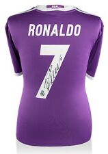 CRISTIANO RONALDO Autographed Real Madrid 2016-17 Away Jersey Shirt ICONS