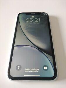 Apple iPhone XR - 64 Go - Blanc pb reseaux