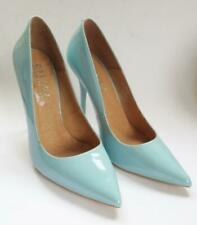 OFFICE LIGHT BLUE PATENT LEATHER COURT SHOES HEELS SHOES SIZE 7 UK