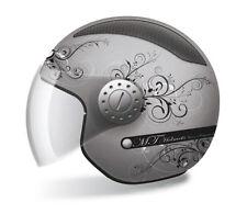 Jethelm Helm MT Helmets Urban II Lady, XXS, Titanium-Matt, Lüftungsgitter