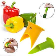 2PCS Pepper Corer Cutter Slicer Utensil Gadget Kitchen Accessories Cooking Tools