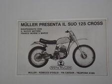 advertising Pubblicità 1972 MOTO MULLER 125 CROSS