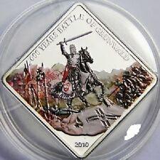 2010 Palau Large Proof color $1 Battle of Grunwald- Polish Knight