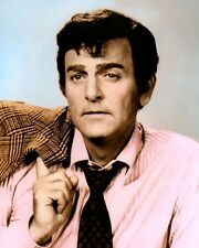"MIKE CONNORS JOE MANNIX 1959 HOLLYWOOD ACTOR 8x10"" HAND COLOR TINTED PHOTOGRAPH"