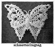 Vintage Irish Crochet Book Butterfly Embellishment 1912