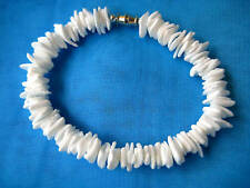"Hawaiian Hawaii Souvenir Surfer Jewelry White Puka Shell Bracelet 7.5"" QTY ( 2 )"
