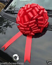 GIANT CAR Bow Extra Large Birthday Present Wedding Anniversary Gift Bow RED 30cm