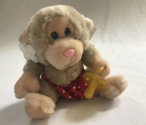 Russ - Baby Chee Chee -  Monkey With Pacifier & Diaper Plush Stuffed Animal 7''