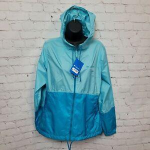 Columbia Flash Forward Windbreaker Jacket In Clear Blue Modern Turq Womens S NWT