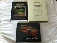3 great pristine fly fishing/tying related books,1 signed, all Hard covers w/DJs