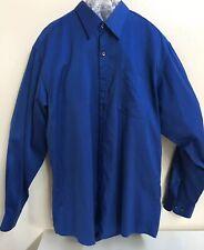 Roberto Villini Mens Dark Blue Long Sleeve Dress Shirt 16 34/35 (E030)