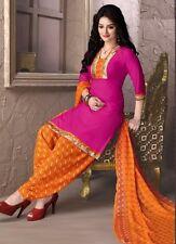 Elegant Crepe Designer Printed Patiala Unstitched Material Suit.No SFD1003