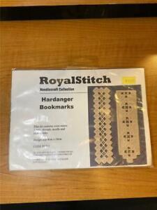 RoyalStitch Needlecraft Collection Hardanger Bookmarks Kit #RS702 NOS Sealed