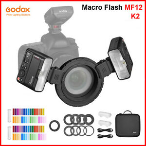 Godox MF12 K2 Macro Flash Light 2.4G Wireless Control for Nikon Canon Sony F/O/P