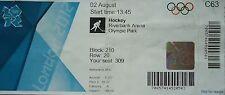 Biglietto OLYMPIA 2.8.2012 Women 's Hockey Cina-Paesi Bassi c63