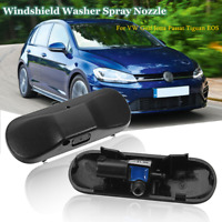 2pcs Front Windshield Washer Spray Jet Nozzle Heated For VW Golf Jetta Passat