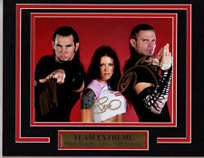 WWE TEAM EXTREME LITA JEFF MATT HARDY 11X14 Matted Namplate PHOTO AUTOGRAPH