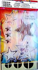 Star Light Dina Wakley Media Clear Acrylic Stamp & Stencil Set MDZ49500 NEW!
