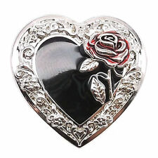 "Heart Concho with Red Rose Screw Back 1-1/4"" 2318-00 by Stecksstore"