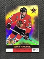 2000-01 PACIFIC VANGUARD TONY AMONTE RARE HOLOGRAPHIC GOLD #ed 14/60
