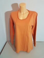 ONE TOUCH Damen Shirt  T-Shirt Gr. 48  orange Langarm  Baumwolle  WIE NEU