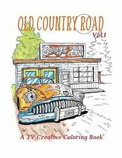 Old Country Road: Adult coloring book (Volume 1) Free Shipping