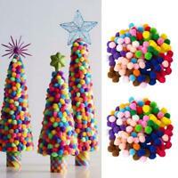 2000X DIY. Mixed Color Mini Soft Fluffy Pom Poms Pompoms U Ball 8mm H3A9 fo V5I9