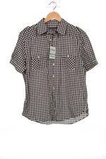 Karierte Kurzarm Damenblusen, - Tops & -Shirts in Größe XL