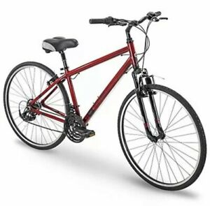 "700c Royce Union RMY 76248 Mens 21-Speed Hybrid Comfort Bike, 21"" Aluminum Frame"