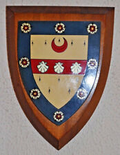 Vintage Woodbridge School Suffolk plaque shield coat of arms crest
