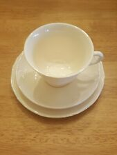 Wedgwood Qeens Ware Plain Coffee Cup/ Teacup Saucer Bread Plate Set