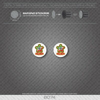 6074 - Olmo Bicycle Handlebar Bar End Plug Stickers - Decals