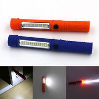 COB LED Pocket Pen Light Inspection Work Lamp USB Torch Flashlight With Clip