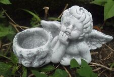 "Latex angel candle holder mold plaster concrete mould 5.5""W x 3""H"