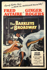 BARKLEYS OF BROADWAY FRED ASTAIRE GINGER ROGERS 1949 1-SHEET