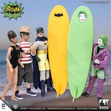 Batman  Classic 1966 tv surfing  Series;  SET OF 4 FIGURES & Surfboards mosc new