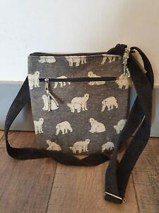 LUA Fabric Polar Bear Messenger Bag