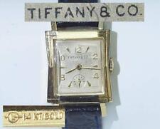 Armbanduhr orig. TIFFANY Vintage gefertigt in 585 Gelbgold - Handaufzug