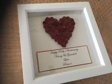 Ruby Wedding Anniversary Gift, 3D Box Frame, 40 Year Wedding Anniversary