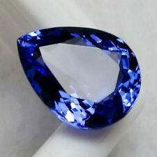 Large 5.38ct Top Blue Tanzanite UNHEATED 9x11mm PEAR Shape AAAA Loose Gems