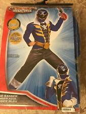 Power Rangers Super MegaForce Blue and Gold and Black COSTUME Size S/P (4 - 5)