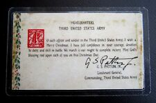 """GENERAL GEORGE S. PATTON'S MIRACLE """"FAIR WEATHER FOR BATTLE"""" PRAYER CARD"""