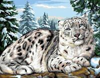 Royal Paris Tapicería / Bordados Lienzo - Nieve Leopardo (Le Léopard Des Neiges)