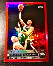 2005-06 Topps Big Game Tim Duncan #25 Red Refractor # /99 San Antonio Spurs SP